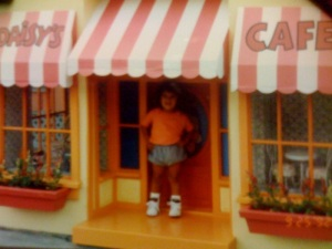Here I am at 1-year-old hanging at Mickey's Starland at Magic Kingdom.